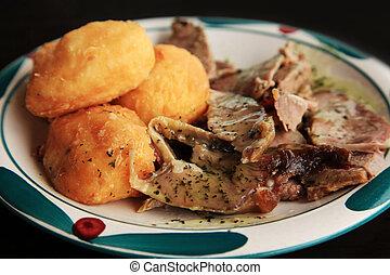 patata, con, carne