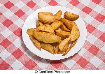Patatas bravas, spanish fried potato.