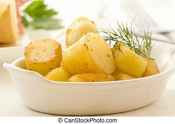 patate, arrostito