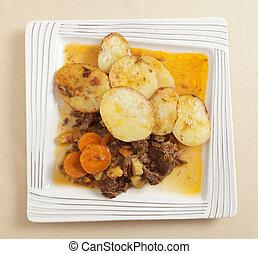 patate, spezzatino, manzo