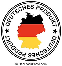 "Patch "" Deutsches Produkt "" - round patch "" Deutsches..."