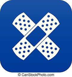 Patch icon digital blue