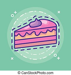 patch of slice sweet cake
