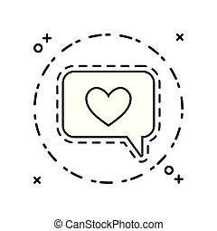patch of speech bubble with heart