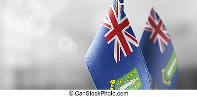 Patch of the national flag of the British Virgin Islands on a white t-shirt