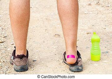 Patch on runner heel