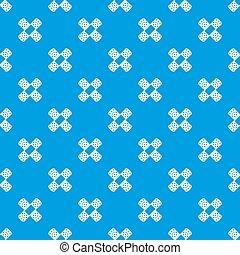 Patch pattern seamless blue