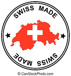 """Patch """" Swiss Made """" - round patch """" Swiss Made """" with..."""