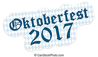 Patch with text Oktoberfest 2017