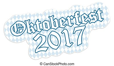 Patch with text Oktoberfest 2017
