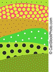 Patches - Pattern with dots. Abstract background patches....
