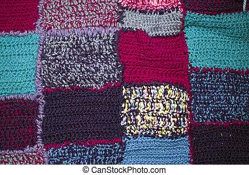 patchwork, 毛毯, 手工制造