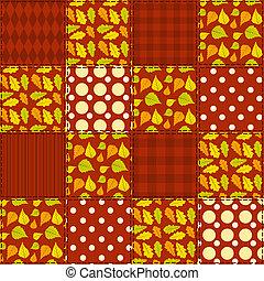 Patchwork autumn pattern 4.