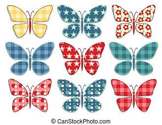 patchwork, butterflys, komplet, 3.