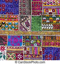 patchwork, chiudere, carpet., dettaglio, su