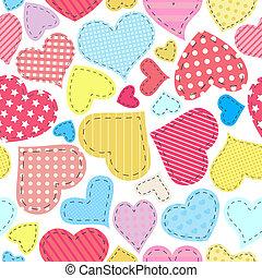 patchwork, cuori