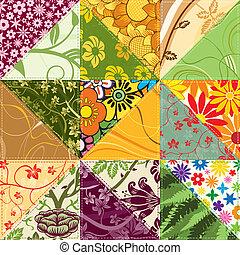 patchwork, flor