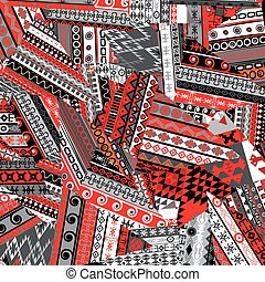 patchwork, fond, ethnique