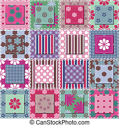 patchwork, fond