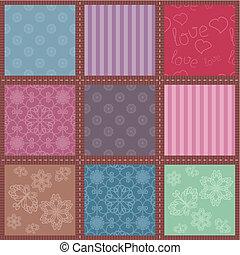 patchwork, fondo