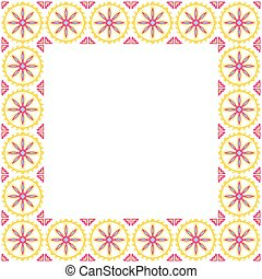 patchwork, géométrique, cadre, ethnique