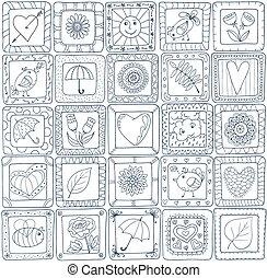 patchwork, geometrico, pattern., stile, seamless