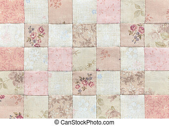 Patchwork Quilt , Basic browns pattern square