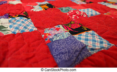 patchwork quilt from the country house interior