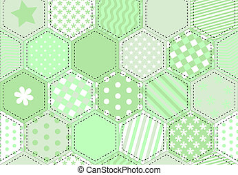 Patchwork quilt green
