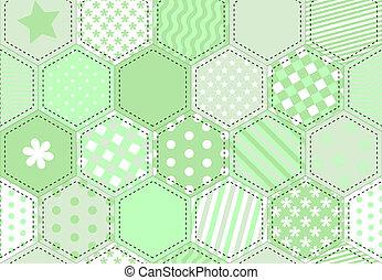 Patchwork quilt green