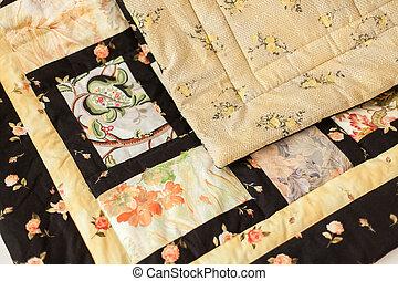 Patchwork quilt. Handmade.
