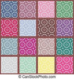 patchwork, seamless, fondo