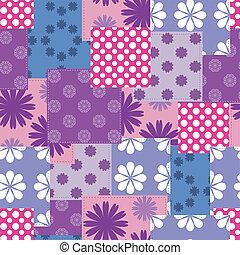 patchwork, seamless, fundo