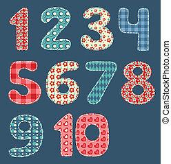 patchwork, set., numeri