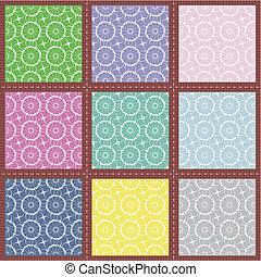 patchwork set seamless