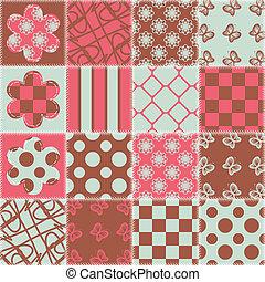 patchwork, tło