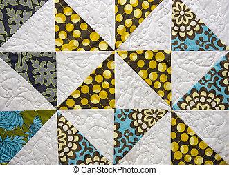 patchwork, vecchio, trapunta