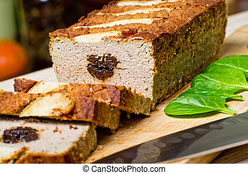 Pate stuffed with prunes - Traditional delicious pate...
