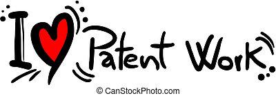 patent, arbete, kärlek