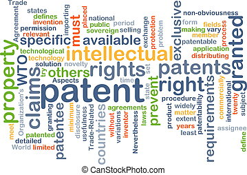 Patent background concept