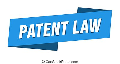 patent law banner template. ribbon label sign. sticker - ...