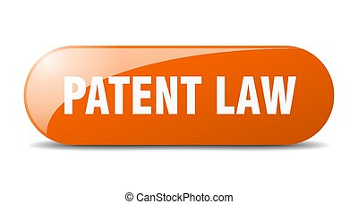 patent law button. sticker. banner. rounded glass sign - ...