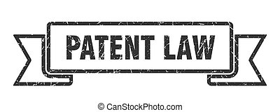patent law grunge vintage retro band. patent law ribbon - ...