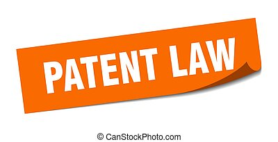 patent law sticker. square isolated label sign. peeler - ...