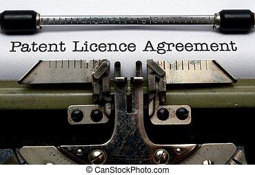Patent license agreement
