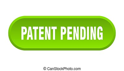 patent pending button. rounded sign on white background - ...