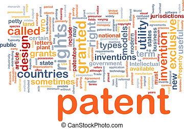 patent, pojęcie, kość, tło