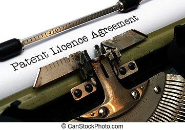patent, pozwolenie, porozumienie