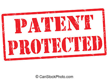 Patent protected stamp - Patent protected grunge rubber...