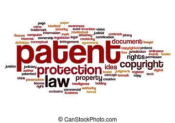Patent word cloud concept